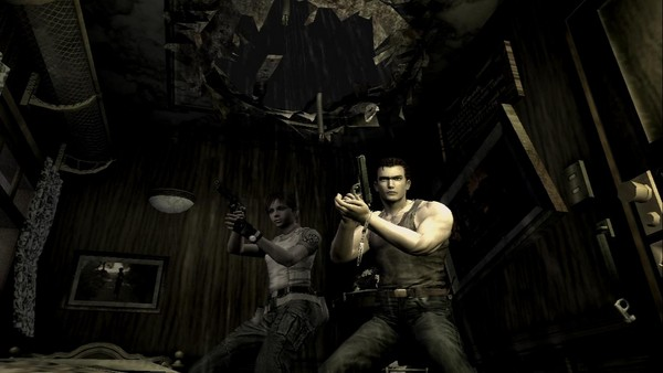 The game begins with a retelling of Resident Evil 0's story.